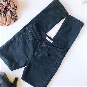 Men's Black Levi's 471 Slim Fit Jeans